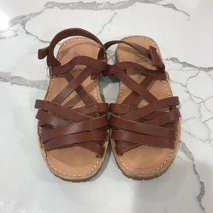 Zara girls brown sandals size 28 10.5